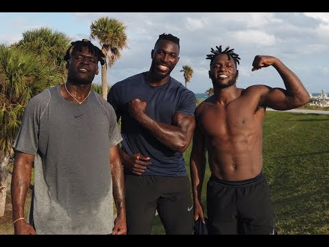 NFL Wide Receiver Antonio Brown Off Season Workout 1- Hip Power