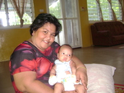 Self n my dear grandsonny Roreta @ home in Bairiki.
