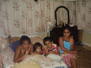 Sis with her children in Samoa