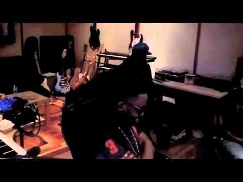 """Dominique De Beau"" jammin at the studio with my bros ""Dabeatfreakz"""
