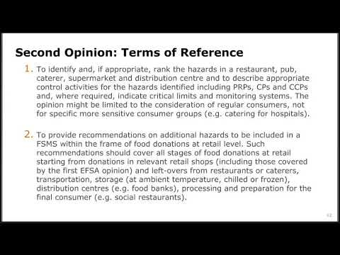 EFSA Simplified Food Safety Management Systems