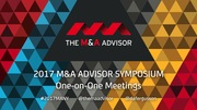 2017 M&A Advisor Summit - One-on-One Meetings