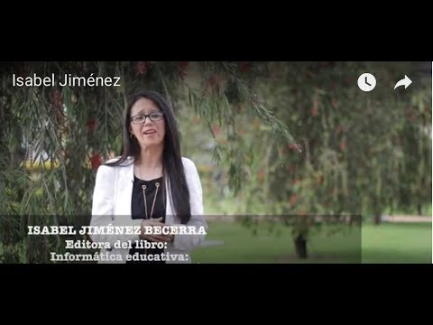Isabel Jiménez Becerra, autora de libro sobre informática educativa de la Universidad de La Sabana