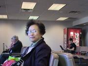 兰辛机场候机