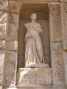 Statue in the Library at Ephesus