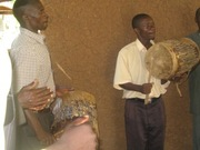 Drums used during praise and worship