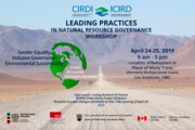 Leading Practices in Natural Resource Governance workshop