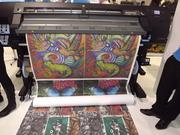Impressão Digital Direta em Tecido 100% Algodão.