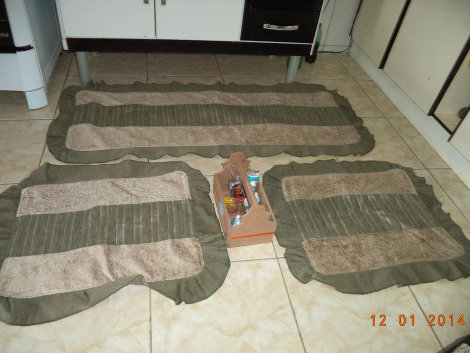 020Jogos de tapetes para cozinha babado