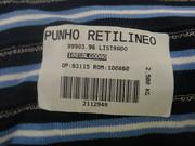 PUNHO RETILINEO PARA GOLA 100% ALGODAO
