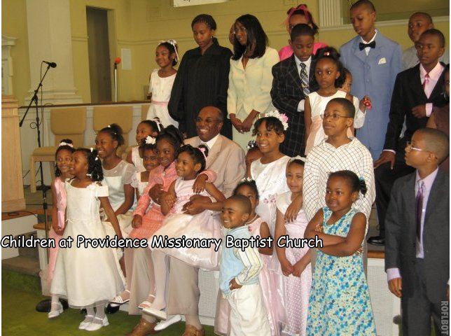 Children at Providence Missionary Baptist Church