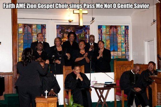 Faith AME Zion Gospel Choir .