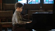 Gabe Crist on piano playing Prokofiev