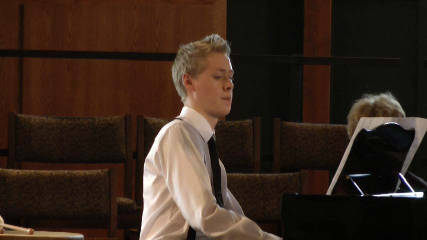 Orin playin Colin Laursen's Fugue in 11