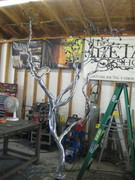 Under Construction - Welded Steel Manzanita Tree Sculpture