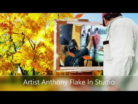 Painting in the Art Studio ..Artist Anthony Flake April 4,2019