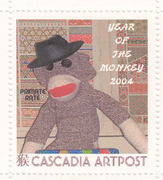 Year of the Monkey stamp