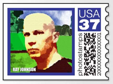 RAY JOHNSON STAMP