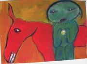 Bedouin, 60 X 35 cm, acrylic on paper, created 09
