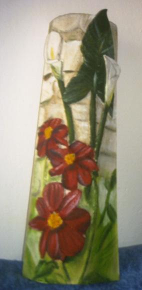 TEGOLA con fiori a rilievo