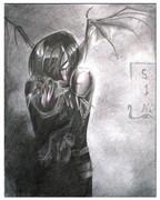 2006. The dark skin, matita su carta