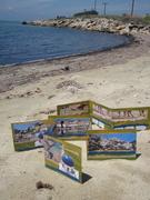 3-fold sand books on-the-beach, Halkidiki, Greece