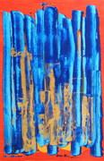 29.Blue Heart 2004 (acrylic on cardboard) 67x44cm (26x17in)