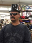 man with mustache and top hat