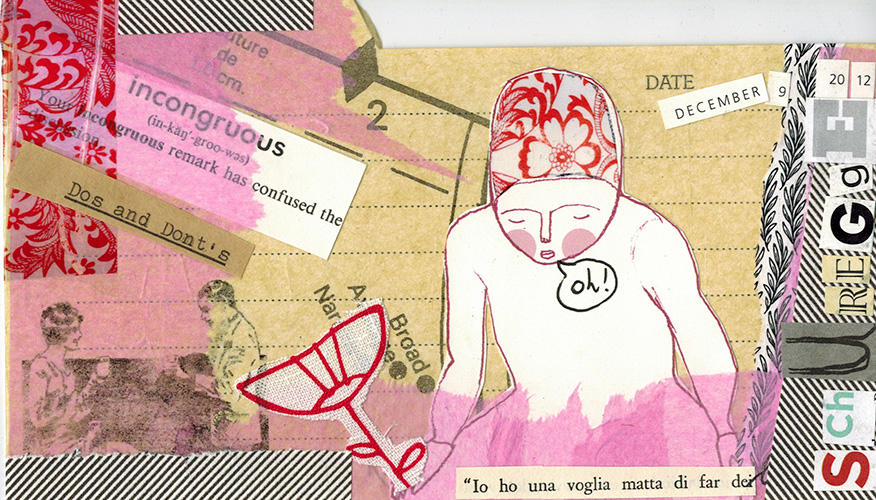 Mail art to my sister Cristina