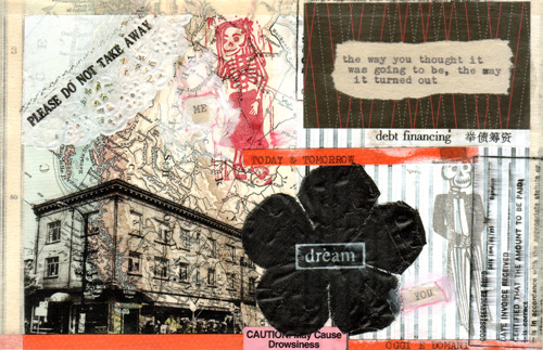 Today and tomorrow postcard for an exhibition