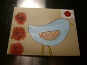 Painted Bird Envelope