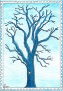 Out: Tree in blue