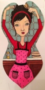 Domestic Diva Paper Art Doll