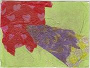 Collage postcard tissue