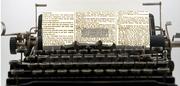 typewriter newspaper copy