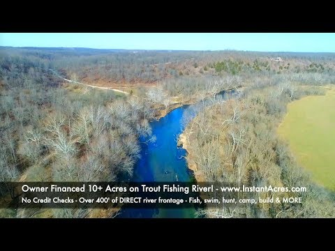 Owner Financed River Land for $500 down! - 10 acres with 400' trout fishing frontage! - ID#RN08
