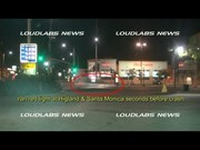 """Michael Hastings """"CAUGHT ON TAPE"""" Running Red-Light Seconds Before Crash"""