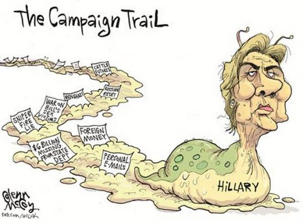 Hillary Clinton Scandals - Cartoon