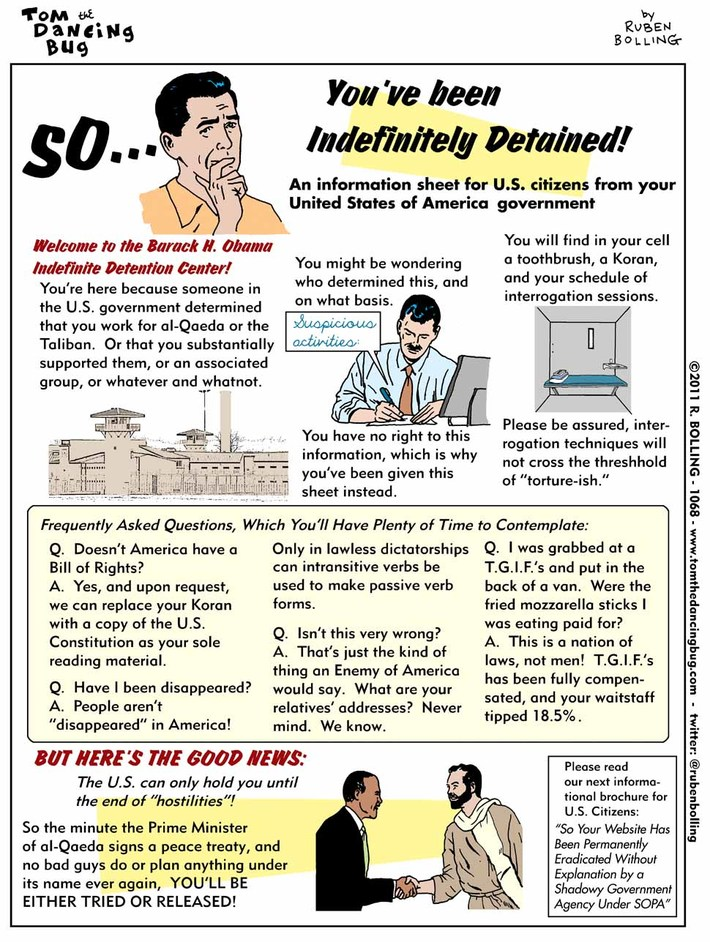 So... You've Been Indefinitely Detained! Helpful Information From Your U.S. Government!