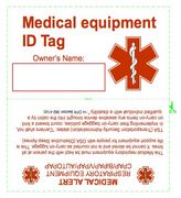 CPAP Medical Equipment Tag