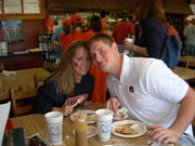 Holly and Clyde in Auburn.  War Eagle!