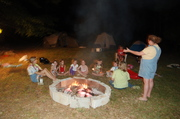 Girlscouts first camping trip on our farm
