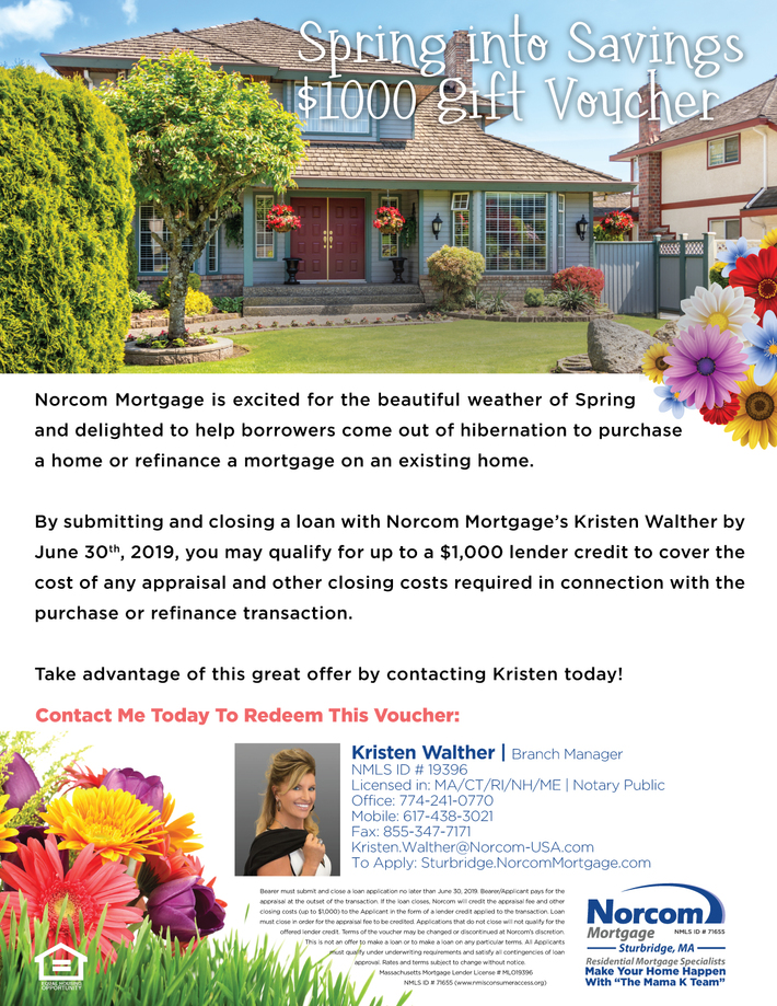 Spring Into Savings $1000 Gift Voucher-Kristen-2019