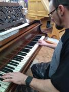 Playing the piano in my church