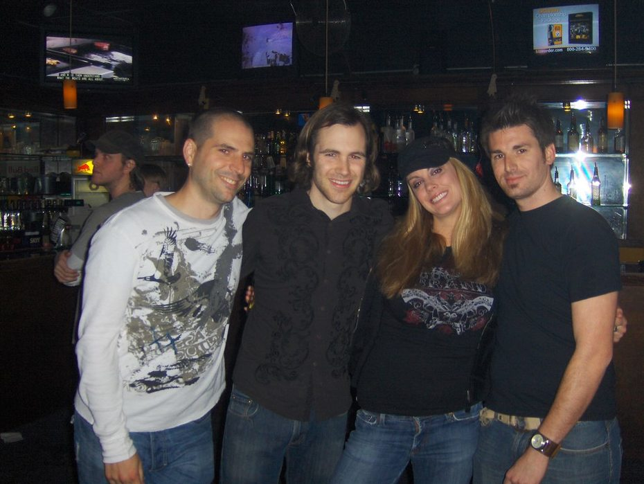 Me with a few of the members of Distant Lights