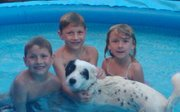 Kids and Rocky Pool Pic