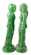 Green God and Goddess Candles