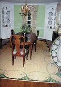 Hand-painted sisal rug