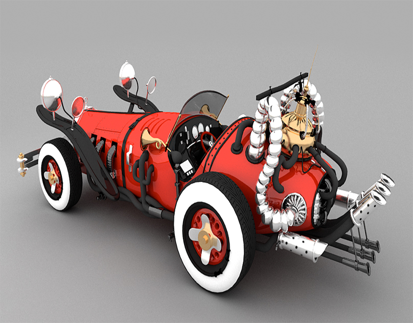 V20 Classic vintage stylish yet Elegant Car modelling By GameYan 3D Production Animation Studio