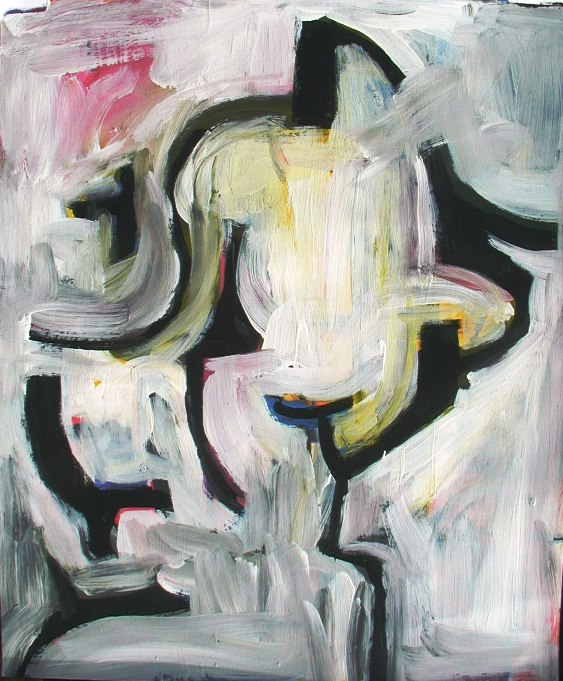 Floating wht. figure (non judgemental painting)